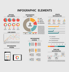 business infographic elements pie charts vector image vector image