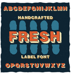 handcrafted cartoon style label typeface vector image vector image