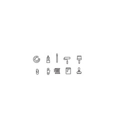 simple collection icon vector image vector image