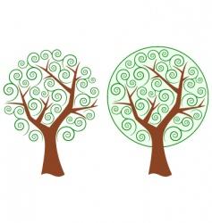 Swirly tree vector