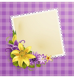 vintage greeting card vector image vector image