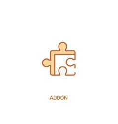 Addon concept 2 colored icon simple line element vector