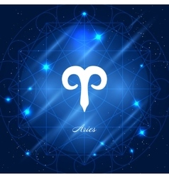 Aries sign zodiac vector