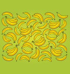 Banana background cartoon vector