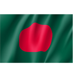 Bangladesh flag flat style vector