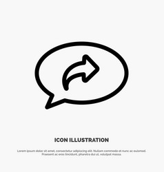 Basic chat arrow right line icon vector