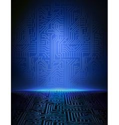 Blue electronic background vector