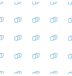 bread icon pattern seamless white background vector image