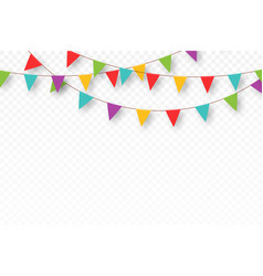 Carnival garland with pennants decorative vector