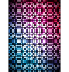 Checkered blue and purple background vector image