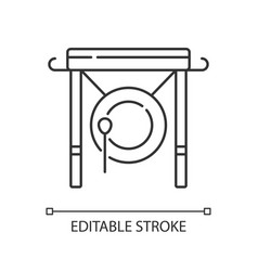 Chinese gong linear icon vector