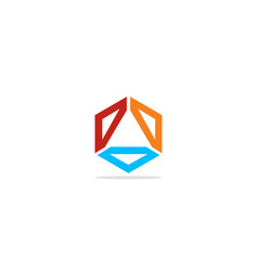 circle shape geometry colored logo vector image