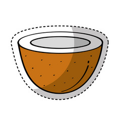 coconut fresh fruit drawing icon vector image