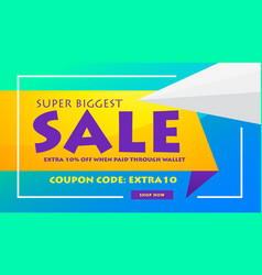 Creative sale discount banner poster design vector