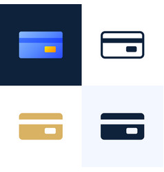 credit card stock icon set the concept mobile vector image