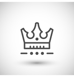 Crown line icon vector