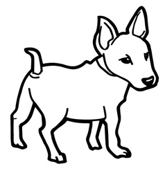 cute dog coloring page vector image
