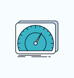 Dashboard device speed test internet flat icon vector