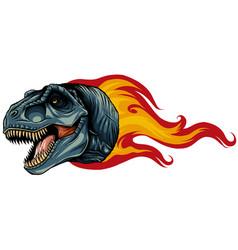 Dinosaurus tyrannosaurus rex head art vector