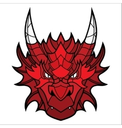 Dragon head mascot vector image