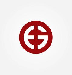 eg letters logo template vector image