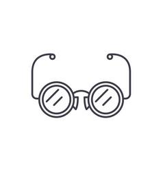 eyeglasses line icon concept eyeglasses vector image