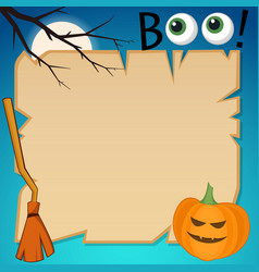 flat style halloween banner vector image
