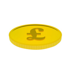 gold coin with the pound sign vector image