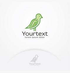 green bird logo vector image
