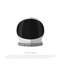helmet of astronaut icon of space hat vector image