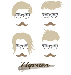 Hipster hairstyle vector