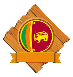 icon design for flag of sri lanka vector image