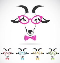 Images of a goat wearing glasses vector