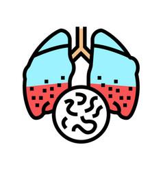 Infectious disease tuberculosis color icon vector