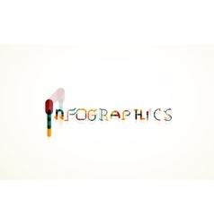 Infographics word font concept vector image