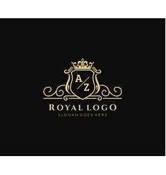 Initial az letter luxurious brand logo template vector