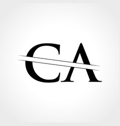 initial ca letter logo with creative modern vector image