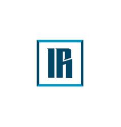 initial letter logo ir template design vector image
