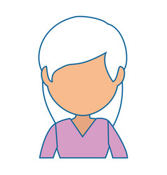 Isolated cute businesswoman vector
