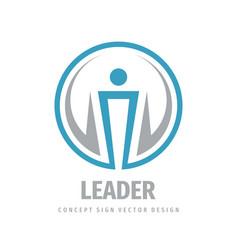 Leader - business logo template concept vector