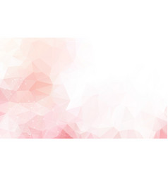 light pink background with dots and lines vector image