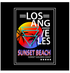los angeles typography for t-shirt print vector image