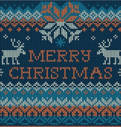 Merry christmas scandinavian style seamless vector
