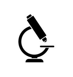 microscope icon logo for lab medical laboratory vector image