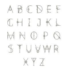 Modern geometric alphabet vector