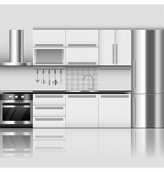 Modern kitchen interior background vector