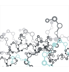 Molecule on the white background vector image vector image