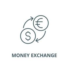 money exchangedollar euro line icon vector image