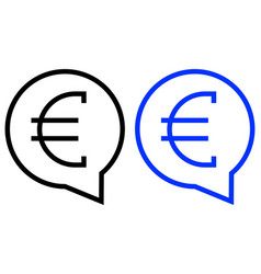 money messages icon vector image