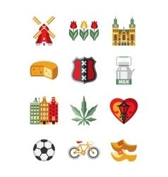 Netherlands Symbols and Landmarks vector image